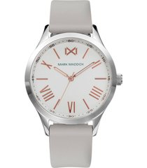 reloj mark maddox mc7115-03 beige femenino