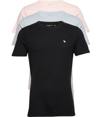 anf mens knits t-shirts short-sleeved svart abercrombie & fitch