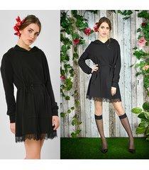 passiflora - sukienka - długa bluza z kapturem