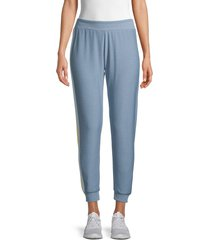 chaser women's side-striped joggers - blue - size m