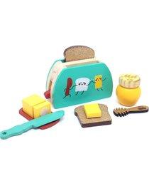 brinquedo madeira kit torradeira 3+