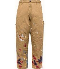 lc23 pantalone work schizzi multicolor