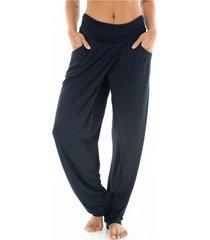 pantalón largo relax - mujer
