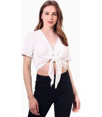 blusa maia crop blanca jacinta tienda