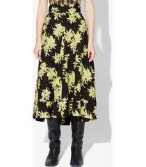 proenza schouler splatter floral skirt yellow/black splatter floral 0