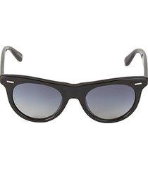 49mm round gradient sunglasses