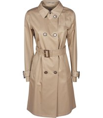 herno belted double-breasted trench