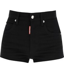dsquared2 denim shorts with icon print