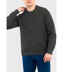 sweater dockers bomber gris - calce regular