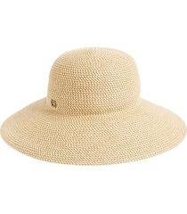 women's eric javits 'hampton' straw sun hat - beige