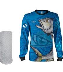 camisa máscara pesca quisty anchova valente proteção uv dryfit infantil/adulto - camiseta de pesca quisty