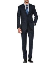 english laundry men's slim-fit wool suit - blue - size 44 r