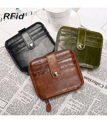 rfid portamonete in vera pelle antimagnetico con supporto in carta cerata borsa fermasoldi portafogli