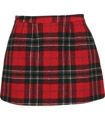red valentino tartan mini skirt