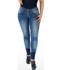 pantalón jeans dama denim azul di bello jeans ® classic jeans j608
