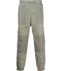 kenzo crinkle-effect zipped-cuffs track pants - grey