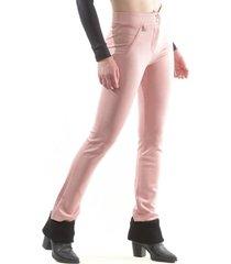 pantalón gamuza recto rosa bous