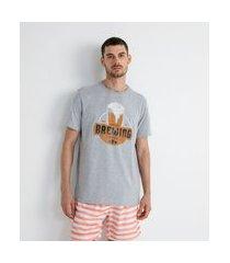 camiseta comfort estampa localizada brewing | marfinno | cinza | g
