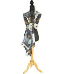 two's company pansy flower scarf