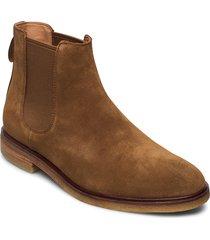 clarkdale gobi stövletter chelsea boot brun clarks