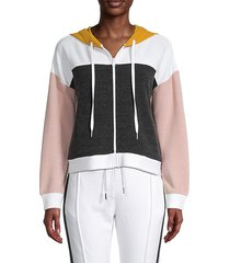 colorblock zip hoodie