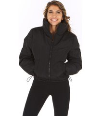 therapy women's cinched puffer coat