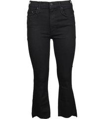 mother insider crop ste fray jeans