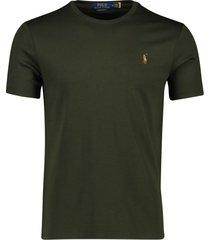 t-shirt ralph lauren big & tall donkergroen