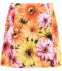 dolce & gabbana crepe mini skirt