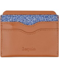bespoke men's floral & nappa leather card case