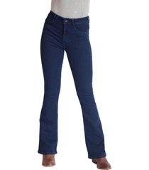 jeans tiro alto high waist flare 2598 azul amalia jeans