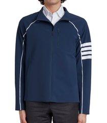 men's thom browne 4-bar track jacket, size x-large - blue