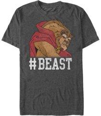 disney men's beauty the beast beast game face short sleeve t-shirt