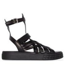 prada sandália gladiadora - preto