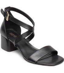 diane mid sandal med klack svart michael kors shoes