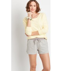 maurices womens light heather gray 3.5in french terry shorts