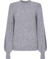 ganni puff sleeves sweater