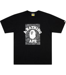 a bathing ape® abc dot reflective on college t-shirt - black