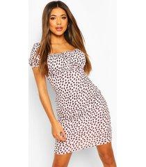 dalmatian print gypsy top mini dress, pink
