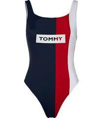tommy hilfiger badpak flag logo - blauw/wit/rood
