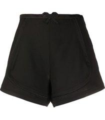 coperni bow detail shorts - black