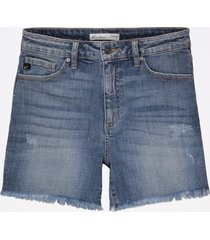 maurices womens kancan™ high rise medium fray hem 4.5in shorts blue