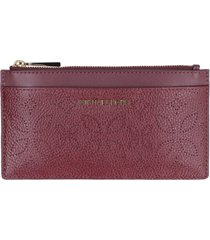 michael kors money pieces pebbled leather flat pouch