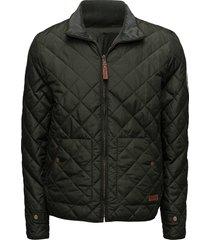 pet light jacket reversible - grs/v kviltad jacka grön knowledge cotton apparel