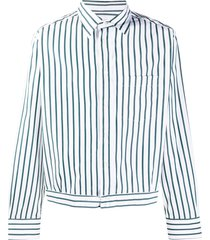 lanvin vertical-stripe blouson shirt - white