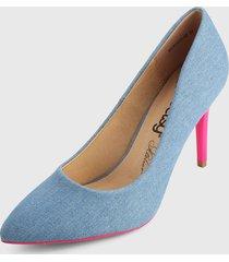 tacón alto azul-rosa betsy