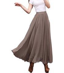 taupe maxi chiffon skirt women chiffon maxi skirts high waist bridesmaid skirts