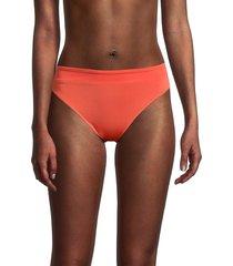 chaser women's reversible bikini bottom - papaya - size m
