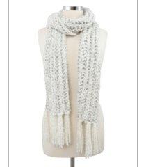 marcus adler lurex boucle scarf