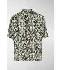 fendi camouflage ff print shirt